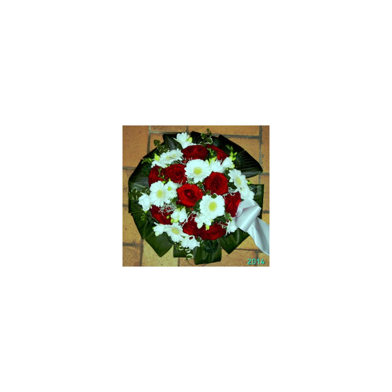 Rund begravelsedekoration m.Bånd Nr 11 - 1