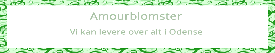 Amourblomster - levering i hele Odense